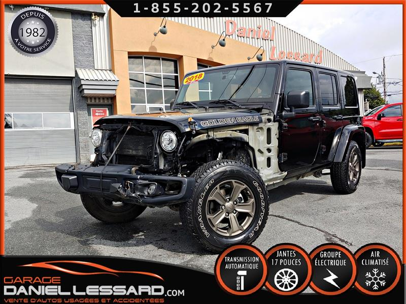 Jeep Wrangler Unlimited 2018 WRANGLER UNLIMITED GOLDEN EAGLE, AUTO, TOIT DUR. #89558