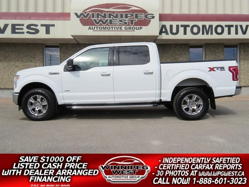 2017 Ford F-150 XTR CREW 3.5L ECOBOOST 4X4, LOADED AND CLEAN! #GW5245