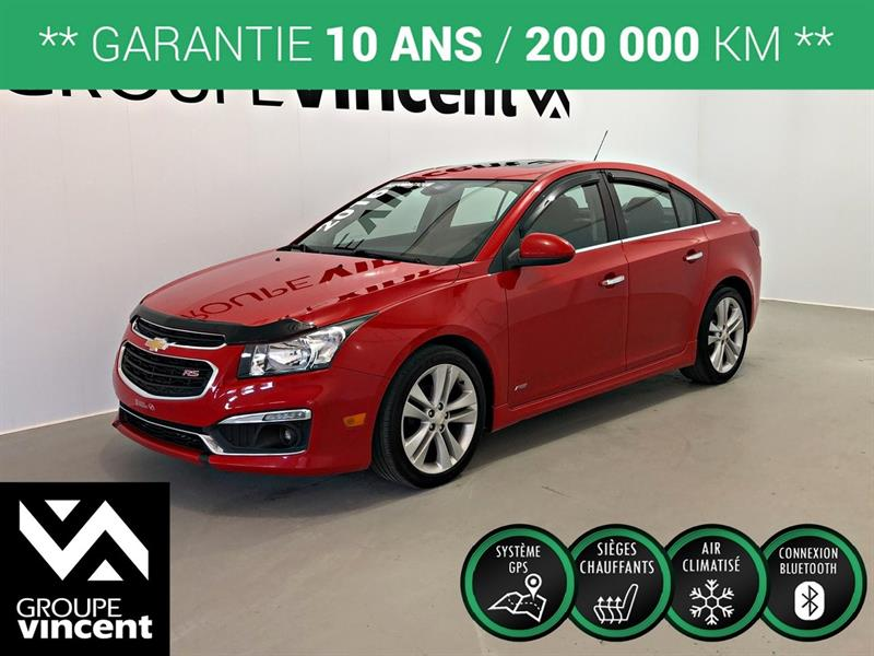 Chevrolet Cruze 2016 RS TURBO GPS CUIR TOIT ** GARANTIE 10 ANS ** #9025AT