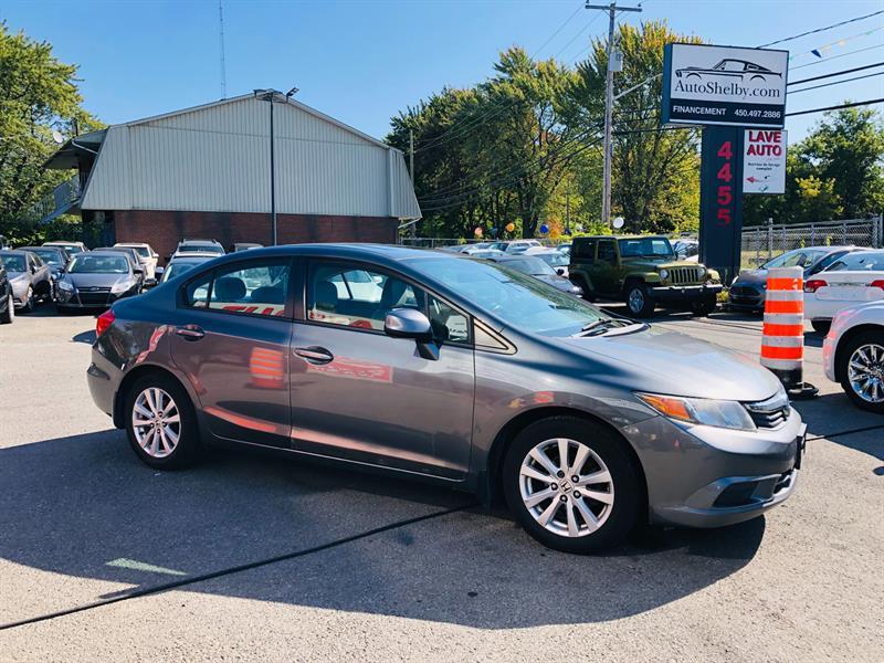 Honda Civic Sdn 2012 EX-L-Air-Cuir-Toit-Navi-Bluetooth-Siéges Chauffant #93440-2