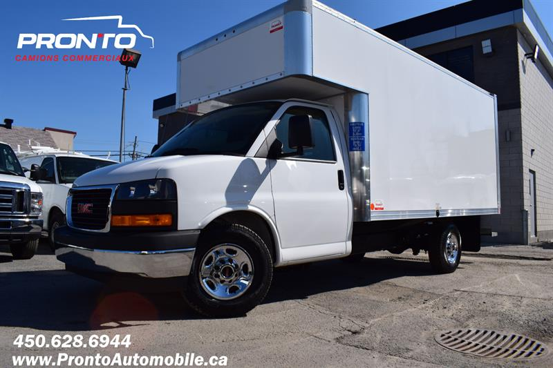 GMC Savana Commercial Cutaway 2019 3500 ** Cube 14 pieds Deck ** RAMPE **COMME NEUF** #V-1990