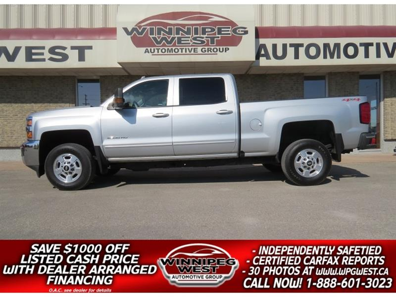 2017 Chevrolet Silverado 2500HD LT2 CREW 6.0L V8 4X4, LOADED, HTD LEATHER, LOW KMS #GW5205