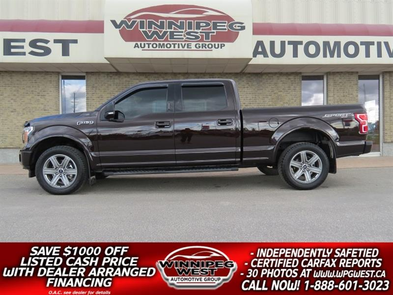 2018 Ford F-150 SPORT CREW ECOBOOST 4X4, LOADED LOCAL MB TRADE! #GW5270