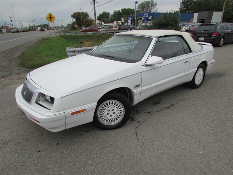Chrysler Lebaron 1989 DECAPOTABLE A/C TRES PROPRE!!!! #4858