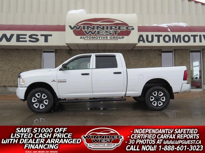 2013 Dodge Ram 2500 CUSTOM CREW 6 SPEED MANUAL CUMMINS DIESEL, NICE! #DW5231A