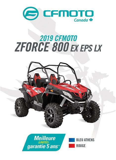 CFMOTO ZFORCE 800-EX EPS LX 2019
