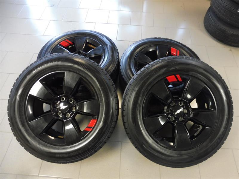 Chevrolet Colorado 2018 4 MAG ET 4 PNEU D'HIVER 18 POUCES #kit mag red line