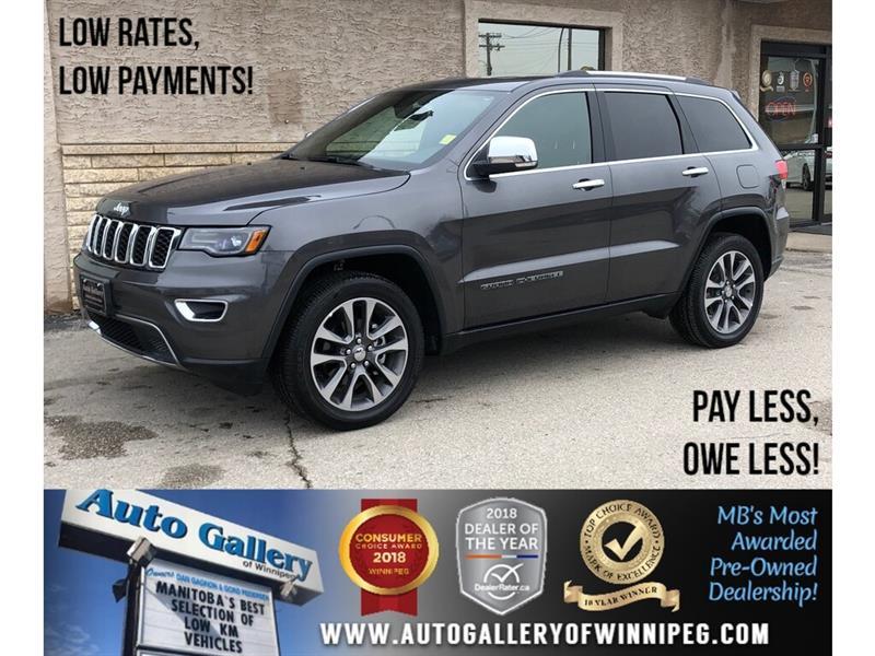 2018 Jeep Grand Cherokee Limited *4x4/Navi/Btooth/Htd Lthr/Pano Roof/V6 #24141