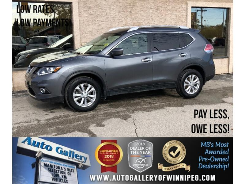 2016 Nissan Rogue S *AWD/B.tooth/Htd Seats/Pano Roof #24135