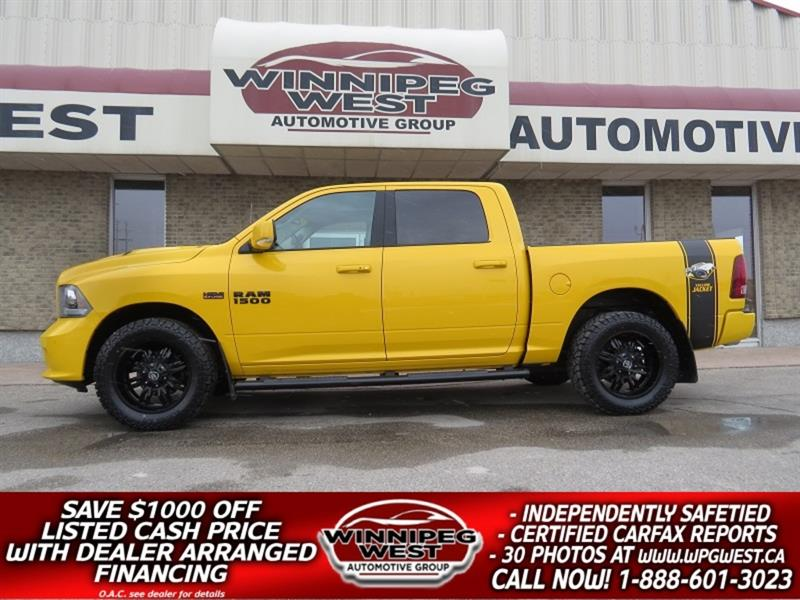 2016 Ram 1500 SPORT STINGER ED CREW 4X4, LOW K, AMAZING LOOKS!! #GW4495