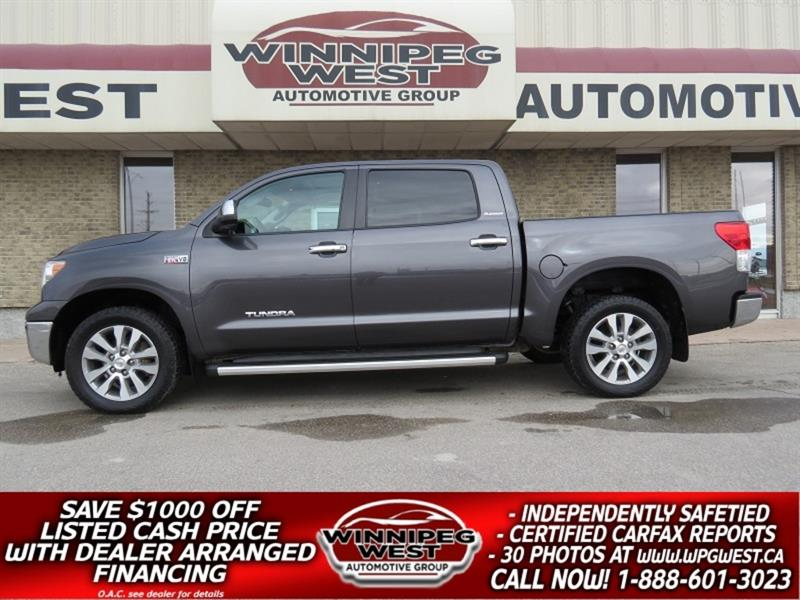 2011 Toyota Tundra PLATINUM CREW MAX 5.7L V8 4X4, LOADED LOW KM, NICE #GW5300