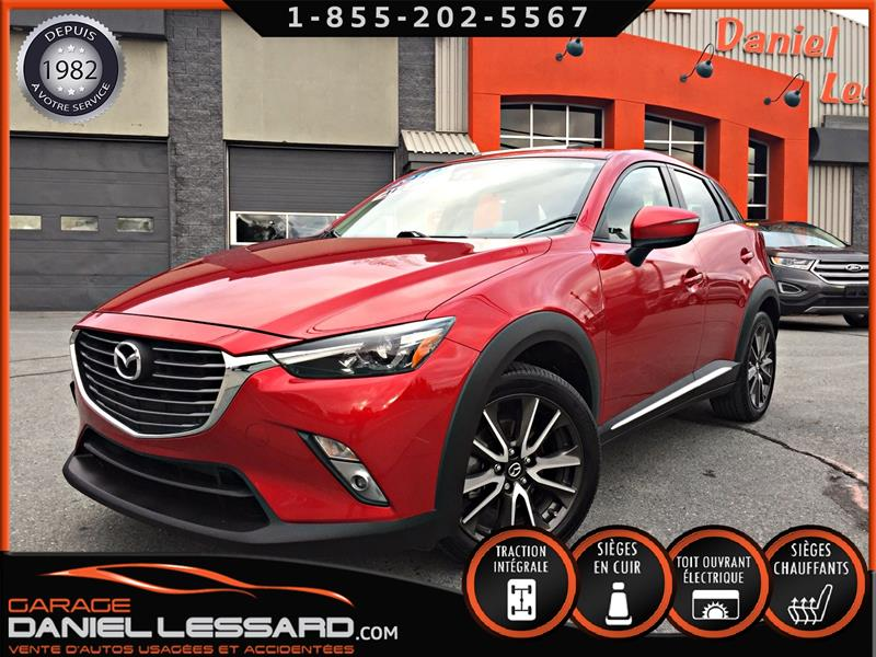 Mazda CX-3 2016 GT, AWD, GPS, TOIT, CUIR, MAG 18 POUCES #69717