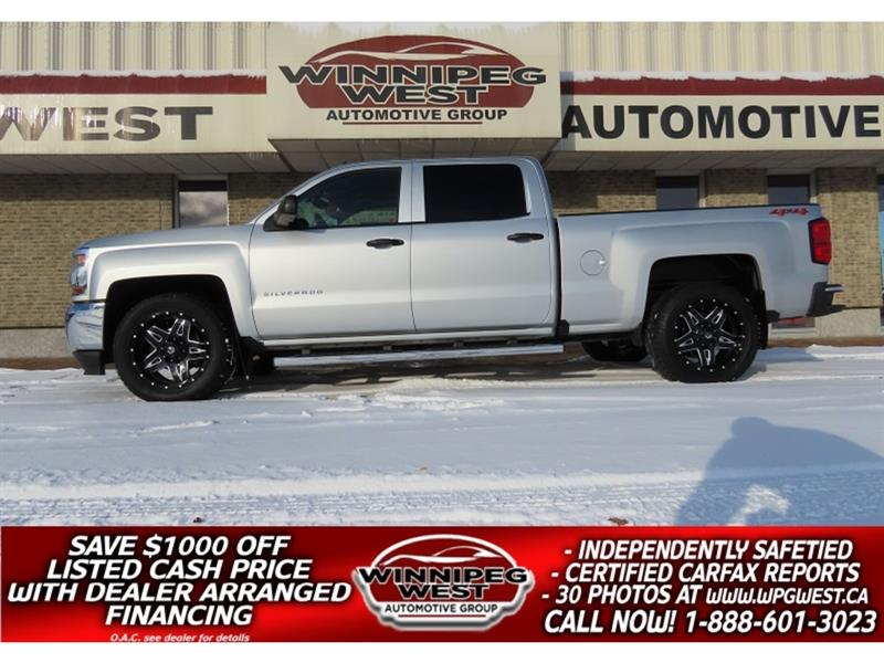 2018 Chevrolet Silverado 1500 LS CREW 5.3L V8 4X4, WELL EQUIPPED, CLEAN & LOCAL #GW5297