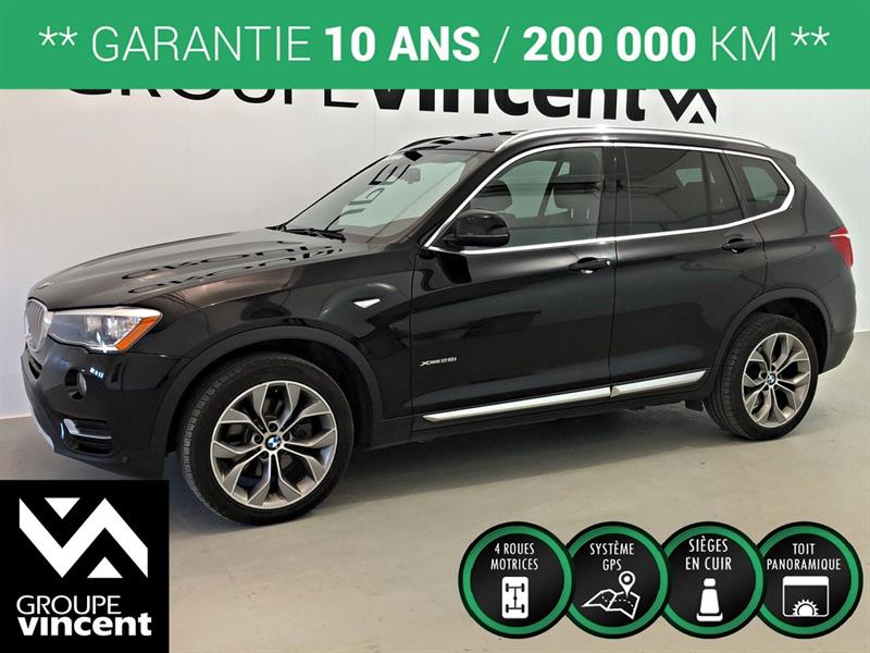BMW X3 2016 XDRIVE 2.8i AWD GPS TOIT ** GARANTIE 10 ANS ** #5583AT