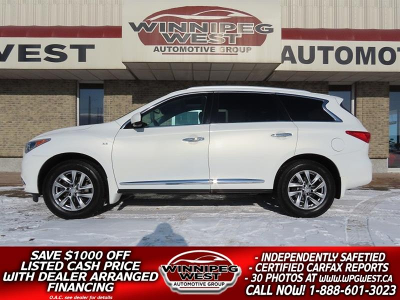 2014 Infiniti Qx60 7 PASS AWD, LOCAL MB TRADE, LOADED WITH EXTRAS #GIWCON180