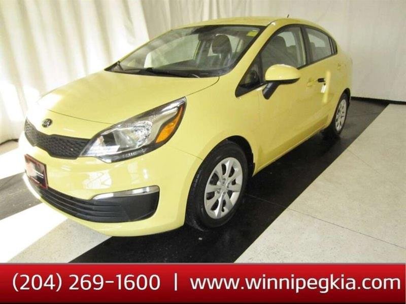 2016 Kia Rio 4DR LX+ AT *Accident Free, Always Owned In MB!* #20SO509A