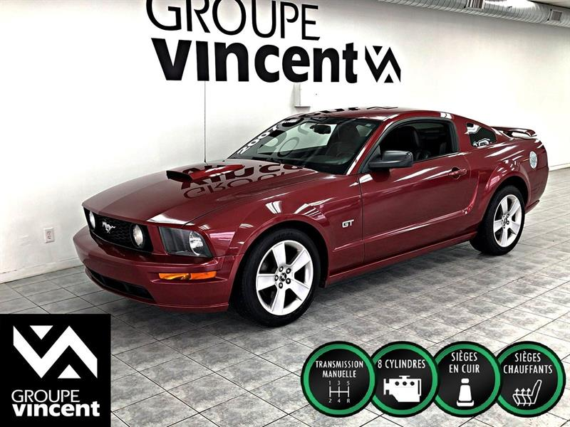 Ford Mustang 2007 GT V8 MANUEL ** CUIR ** #Z3400AM