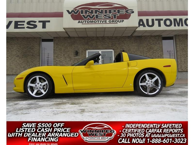2007 Chevrolet Corvette 3LT TARGA COUPE, 2 TOPS, LOADED,FLAWLESS & SHARP!! #W5347