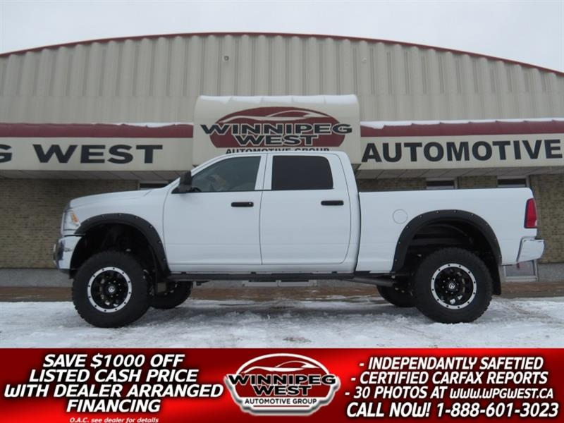 2012 Dodge Ram 2500 BIG LIFTED CREW HEMI 4X4, CLEAN MANITOBA LOW KMS #GWL5314A