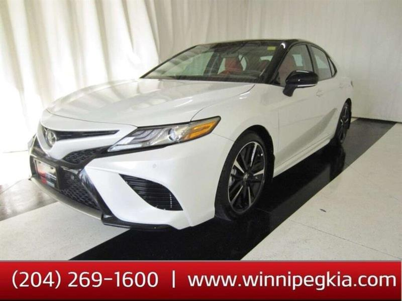 2018 Toyota Camry XSE V6 RED LEATHER INTERIOR BLACK ROOF #18TC17729