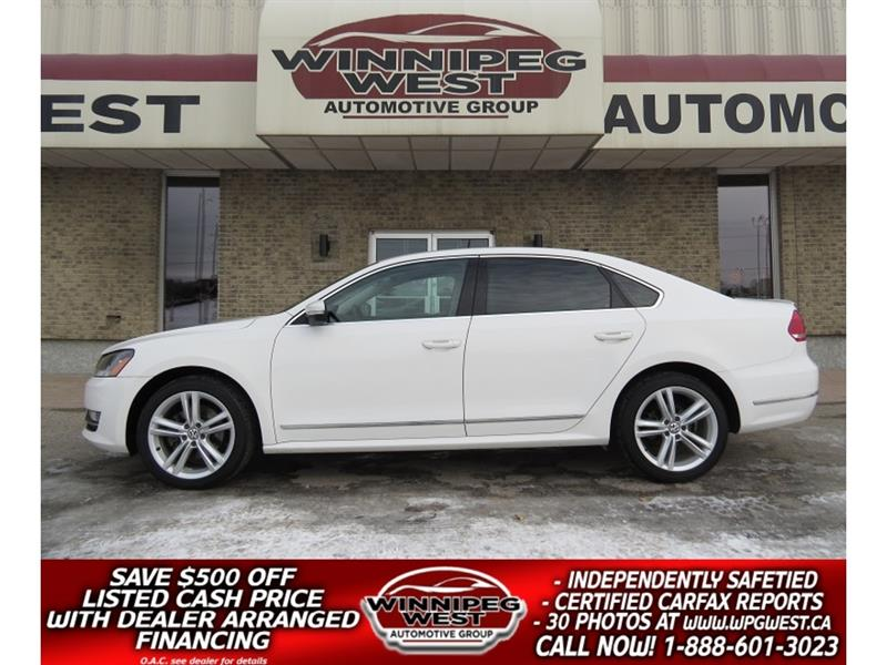 2014 Volkswagen Passat TDI DIESEL, EMMISSIONS CERTIFIED, SUNROOF, LEATHER #DW5321