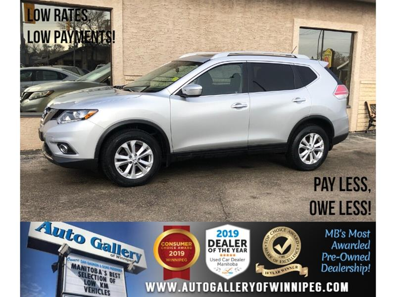2014 Nissan Rogue SV *1 Owner/Accident Free/AWD/Roof/Htd Seats #24095