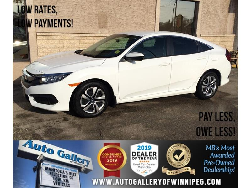 2017 Honda Civic Sedan LX *One Owner/Accident Free/5Spd/B.tooth/Back.Cam #24164