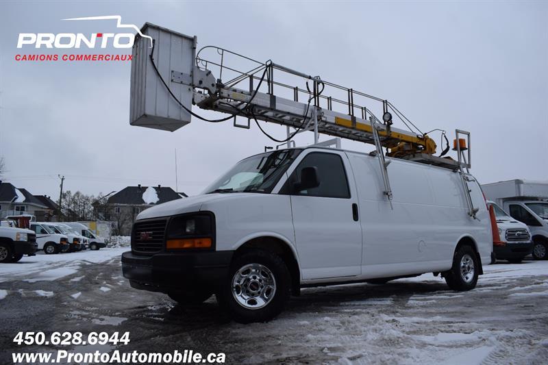 GMC Savana Cargo Van 2007 Allongé Extended ** Nacelle Telelift TTS25 **  #1157