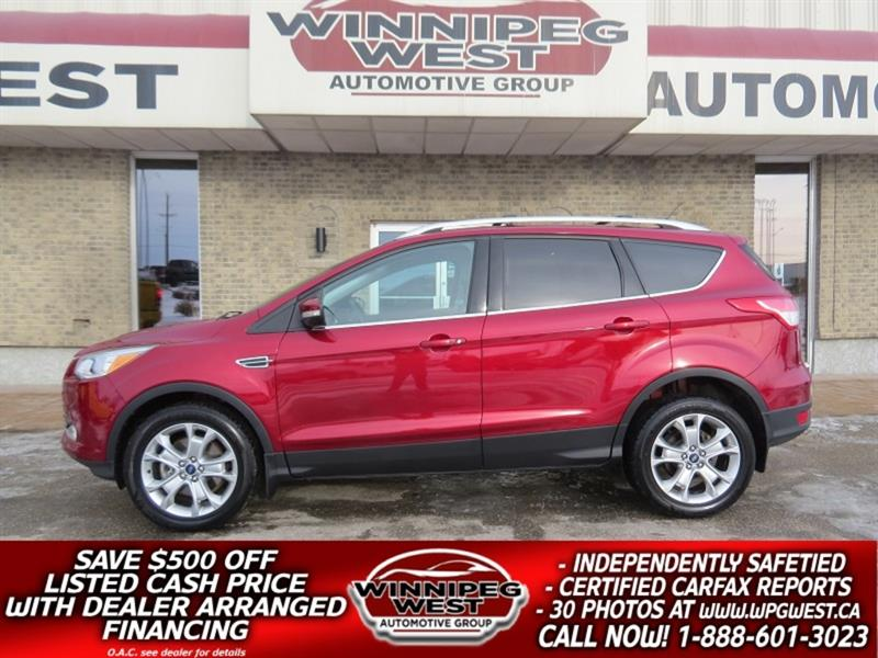 2016 Ford Escape TITANIUM 2.0L ECO 4X4, PAN ROOF, NAV, HTD LEATHER #GNW5359