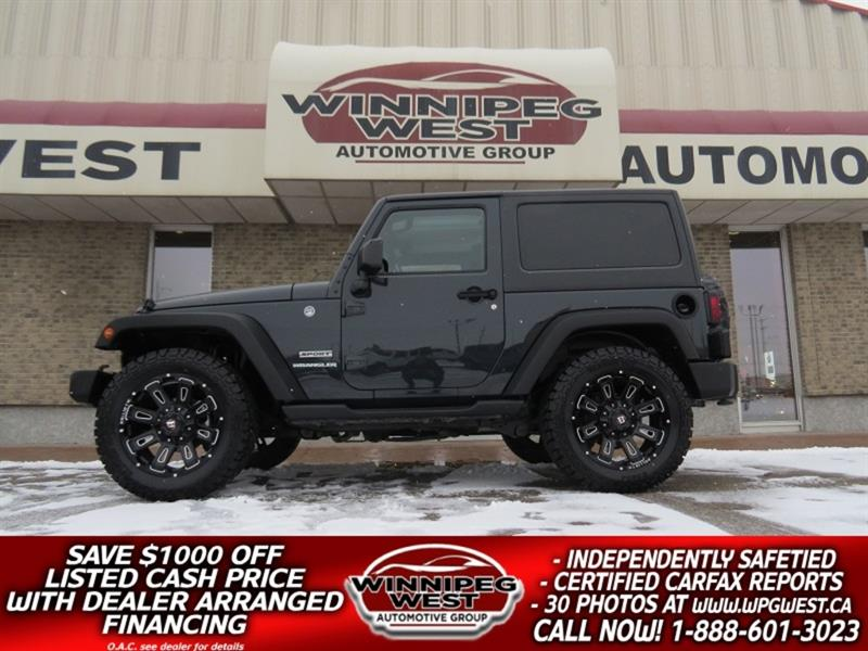 2017 Jeep Wrangler SPORT V6 4X4, AUTO, AIR, CRUISE, BLUETOOTH & MORE! #GNW5375