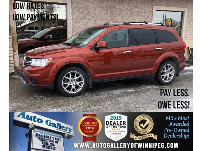 2014 Dodge Journey R/T *Local Trade/Accident Free/AWD/Navi/Lthr/DVD #PR-23612A