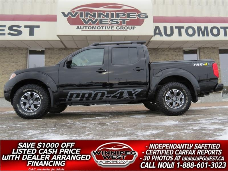 2014 Nissan Frontier PRO 4X 4X4, LEATHER, SUNROOF, NAV & MORE, LIKE NEW #GW5366