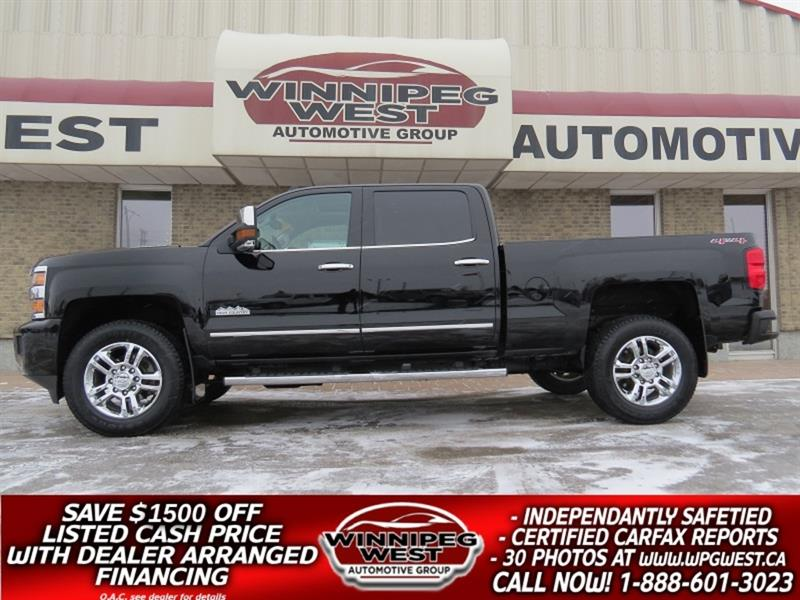 2016 Chevrolet Silverado 2500HD HIGH COUNTRY CREW 6.6L DURAMAX 4X4, LOADED, SHARP! #DW5350