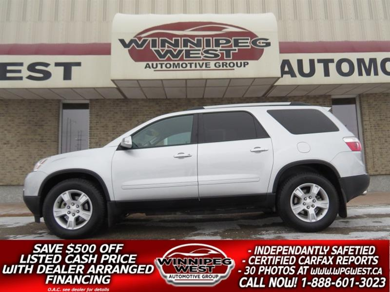 2012 GMC Acadia SLE2 AWD 8 PASS, LOADED LOCAL MB TRADE, LOW KMS! #GNW5374