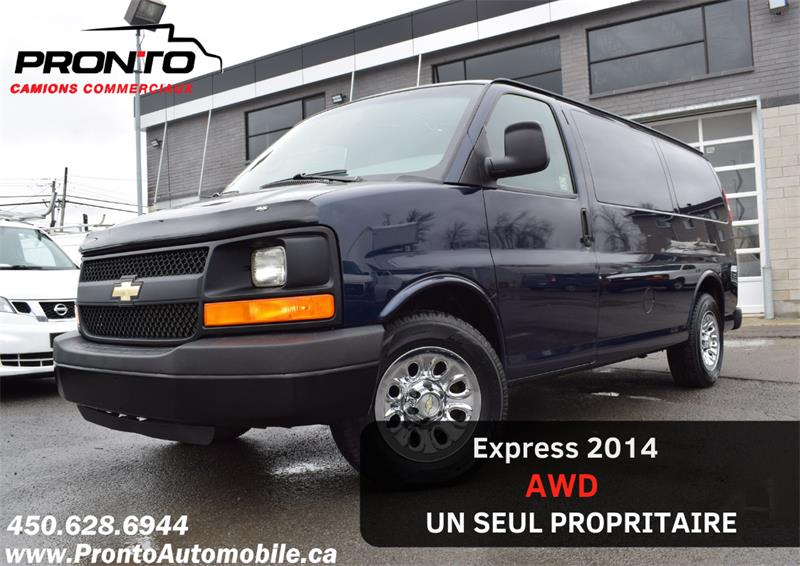 Chevrolet Express Cargo Van 2014 AWD 1500 5.3L Vortec ** Full rack **  #1135