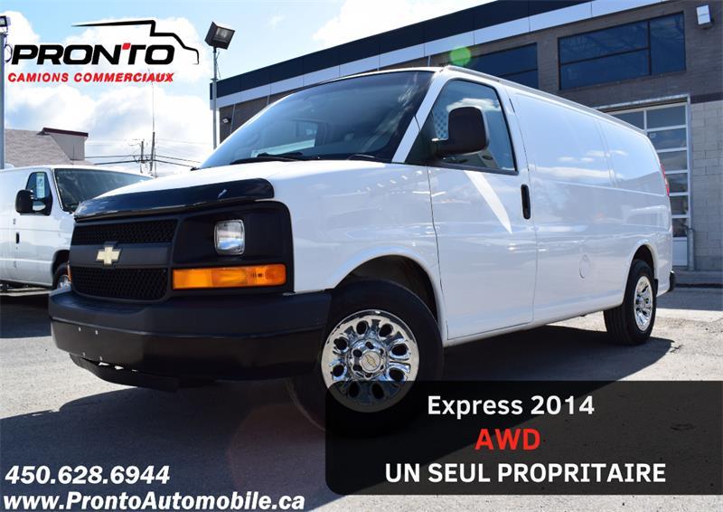 2014 Chevrolet Express Cargo Van AWD 1500 ** RARE ** VOIR ÉQUIPEMENTS ** #1986