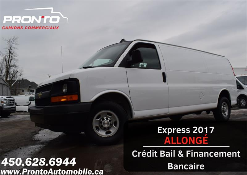 2017 Chevrolet Express Cargo Van 2500 ** Allongé ** 4.8L ** Attache remorque **  #1160