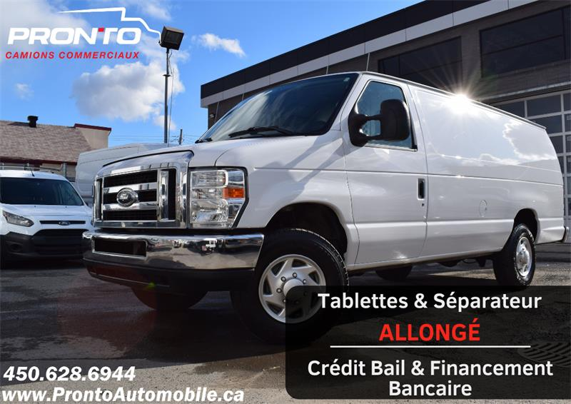 Ford Econoline Cargo Van 2012 E-350 Super Duty Ext ** Allongé **  #1147