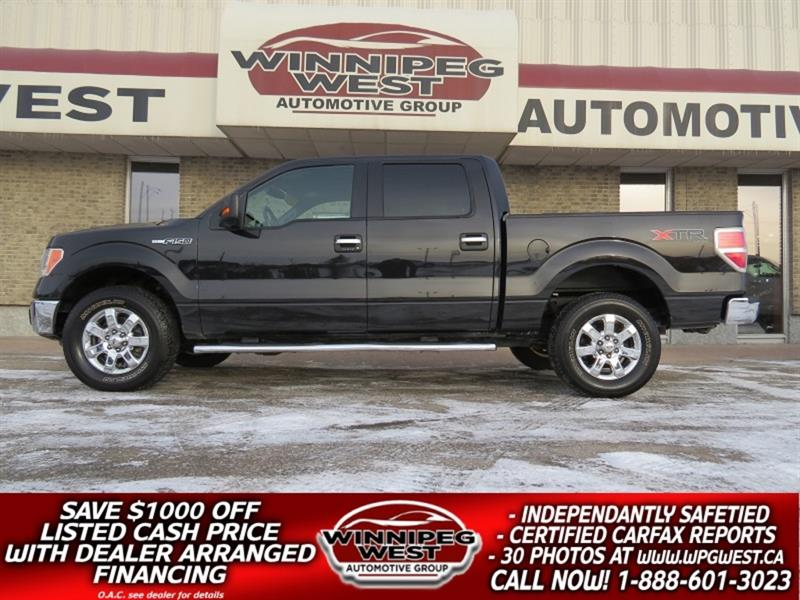 2014 Ford F-150 XTR CREW 5.0L V8  4X4, LOW KM, LOADED CLEAN& LOCAL #GW5018
