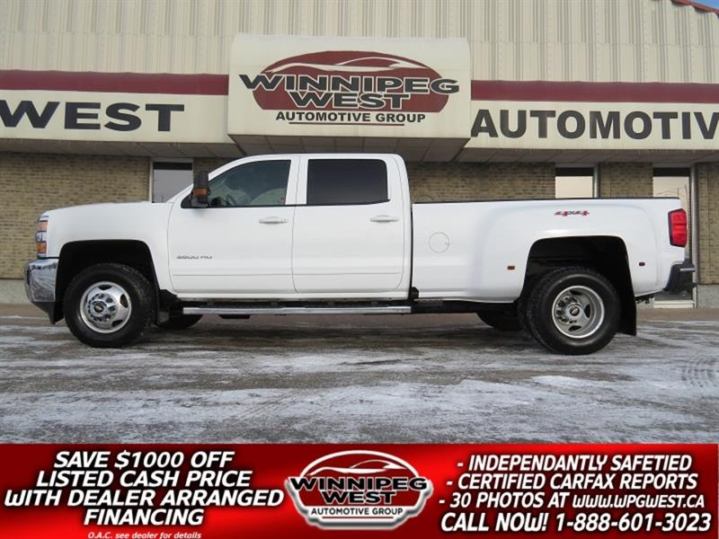 2016 Chevrolet Silverado 3500HD 6.6L DURAMAX DIESEL DUALLY 4X4 1 OWNER MAINTAINED! #DW5358