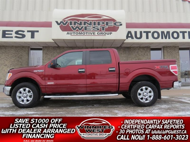 2014 Ford F-150 XTR CREW ECOBOOST 4X4, LOADED & CLEAN MB TRK #GW5019