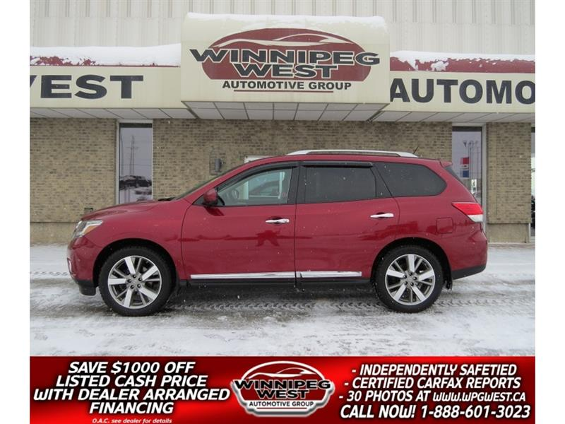 2014 Nissan Pathfinder PLATINUM 4X4, TOP OF LINE, 7 PASS & ONLY 59K KMS!! #GIW4893