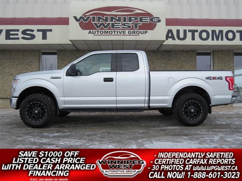 2016 Ford F-150 LIFTED 5.0L V8  4X4, EXTRA SHARP & CLEAN, LOW KM!! #GWL4603