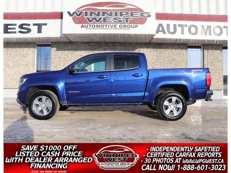 2016 Chevrolet Colorado CREW, 305HP V6 4X4, LOADED, VERY CLEAN & SHARP! #GW5042