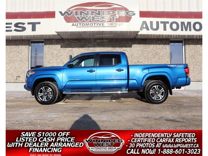 2016 Toyota Tacoma TRD SPORT DBL CAB LOADED, ROOF, NAV V6 4X4, SHARP! #GW5110