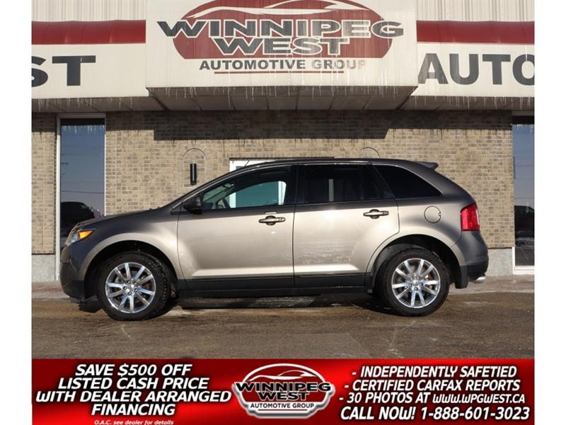 2013 Ford EDGE SEL AWD,  NAV, PAN ROOF, HTD LEATHER, LOCAL TRADE! #GNW5156