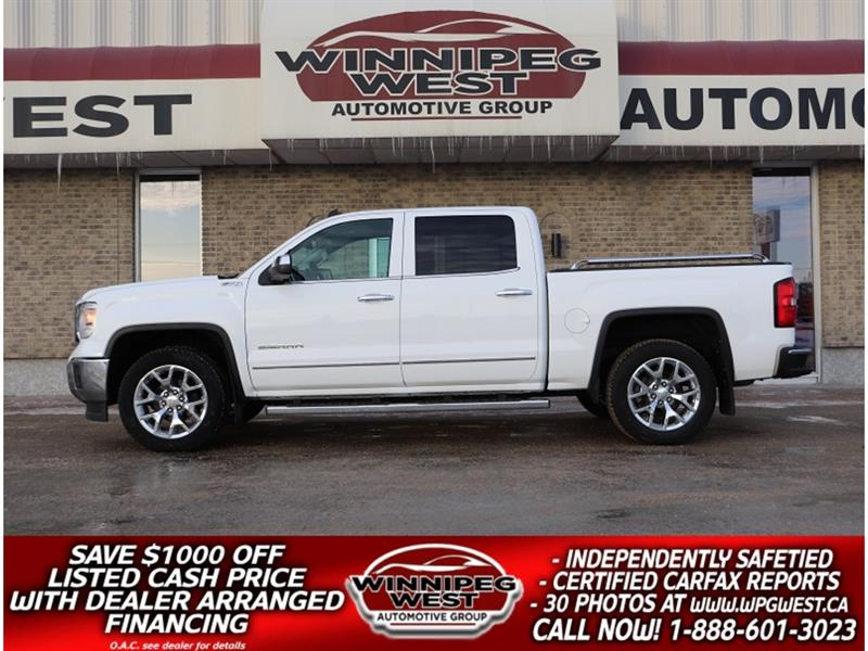 2014 GMC Sierra 1500 SLT Z71 CREW 4X4 1 OWNER, HARD LOAD, NAV & MORE! #GW5185