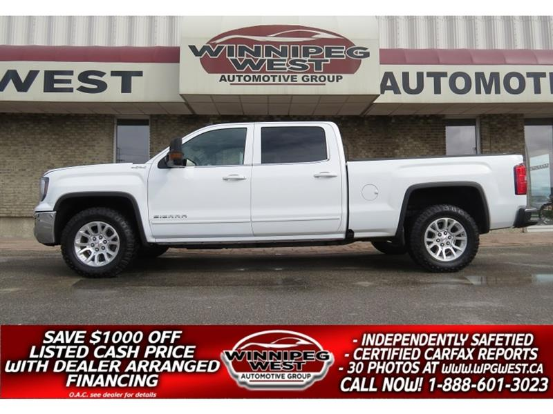 2017 GMC Sierra 1500 SLE CREW  5.3L 4X4, CLEAN, GREAT OPTIONS & VALUE #GW5166