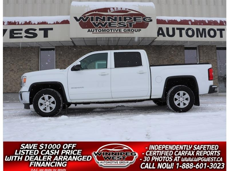 2014 GMC Sierra 1500 CREW SLE 5.3L V8 4X4, LOADED, EXCEPTIONALY CLEAN #GW5125