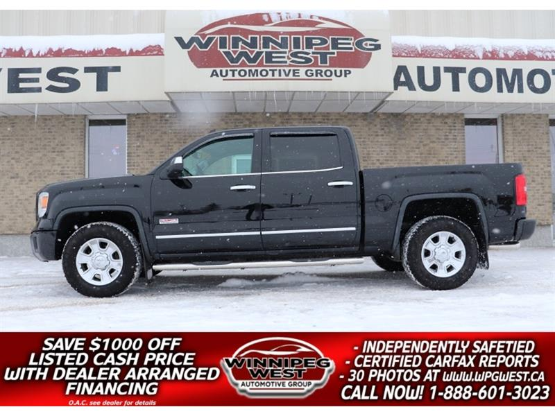 2014 GMC Sierra 1500 SLT ALL TERRAIN CREW  5.3L 4X4, NAV, HTD LEATHER #GW5187